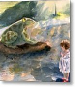 The Magical Giant Frog Metal Print