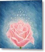 The Magical Pink Rose Metal Print