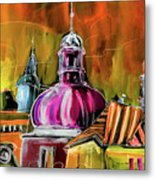 The Magical Rooftops Of Prague 01 Metal Print by Miki De Goodaboom