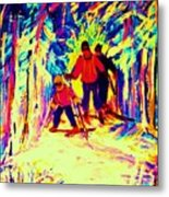 The Magical Skis Metal Print
