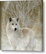 The Magical Wolf Metal Print