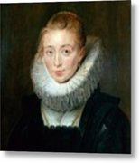 The Maid Of Honor To The Infanta Isabella Peter Paul Rubens Metal Print