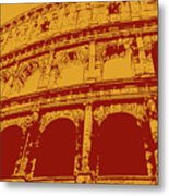 The Majestic Colosseum Of Rome Metal Print