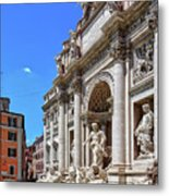 The Majesty Of The Trevi Fountain In Rome Metal Print