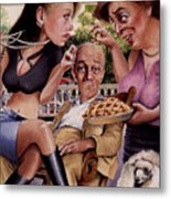 The Man And His Sweethearts Metal Print
