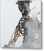 The Man Engine And His Man Metal Print