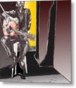 The Man In Black Metal Print by David Fossaceca