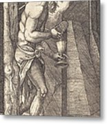 The Man Of Sorrows At The Foot Of The Cross Metal Print