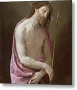 The Man Of Sorrows Metal Print by Guido Reni