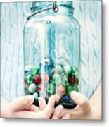 The Marble Collection Metal Print