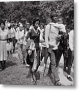 The March On Washington  Freedom Walkers Metal Print