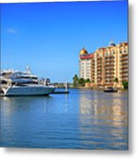 The Marina Sarasota Fl Metal Print