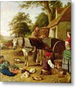 The Market Cart Metal Print