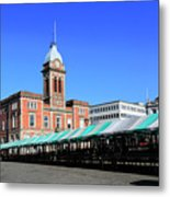 The Market Hall, Market Square, Chesterfield Town, Derbyshire Metal Print