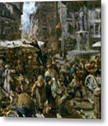 The Market Of Verona Metal Print