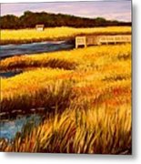 The Marsh At Cherry Grove Myrtle Beach South Carolina Metal Print