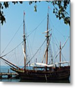 The Maryland Dove Ship Metal Print by Thomas R Fletcher