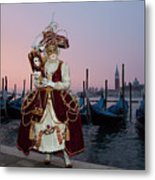 The Masks Of Venice Carnival Metal Print