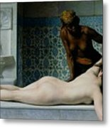 The Massage Metal Print by Edouard Debat-Ponsan