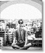 The Meditating Youth Metal Print