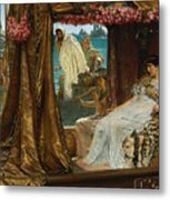 The Meeting Of Antony And Cleopatra By Lawrence Alma-tadema Metal Print