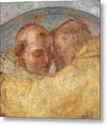 The Meeting Of St Francis And St Dominic  Metal Print