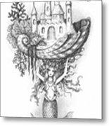 The Mermaid Fantasy Metal Print