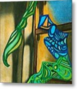 The Mermaid On The Window Sill Metal Print