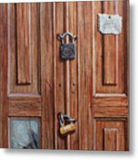 The Message Door Metal Print