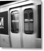 The Metro Is The Subway Train Metal Print