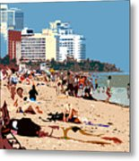 The Miami Beach Metal Print