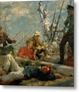 The Midday Rest Sailors Yarning Metal Print