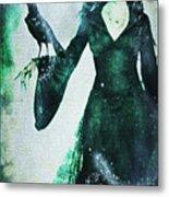 The Midnight Garden Witch Metal Print