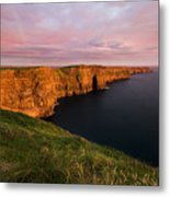 The Mighty Cliffs Of Moher In Ireland Metal Print