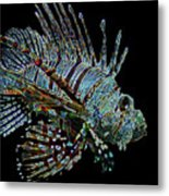 The Mighty Lion Fish Metal Print