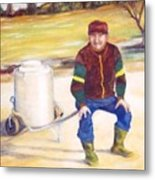 The Milkman Metal Print