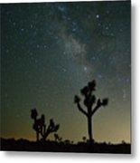 The Milky Way And Joshua Trees Metal Print