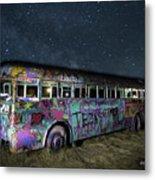 The Milky Way Bus Metal Print