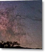 The Milky Way Core Metal Print