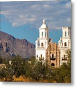 The Mission And The Mountains Metal Print