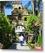 The Mission Inn Stage Coach Entrance Metal Print