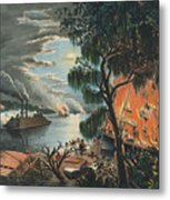 The Mississippi In Time Of War, 1865  Metal Print