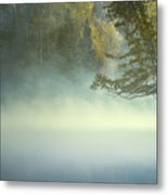 The Mists Of Hunt Lake Metal Print by Stuart Deacon