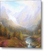 The Misty Mountains Metal Print by Joe  Gilronan