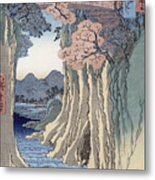 The Monkey Bridge In The Kai Province Metal Print by Hiroshige