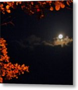 The Moon And Red Metal Print