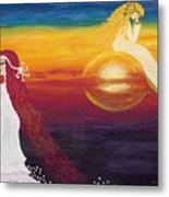 The Moon And The Sun Metal Print