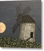 The Moon And The Windmill Metal Print