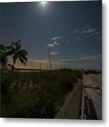 The Moonit Path To Fort Myers Beach Fort Myers Florida Metal Print