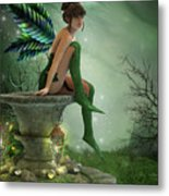 The Moonlight Fairy Metal Print